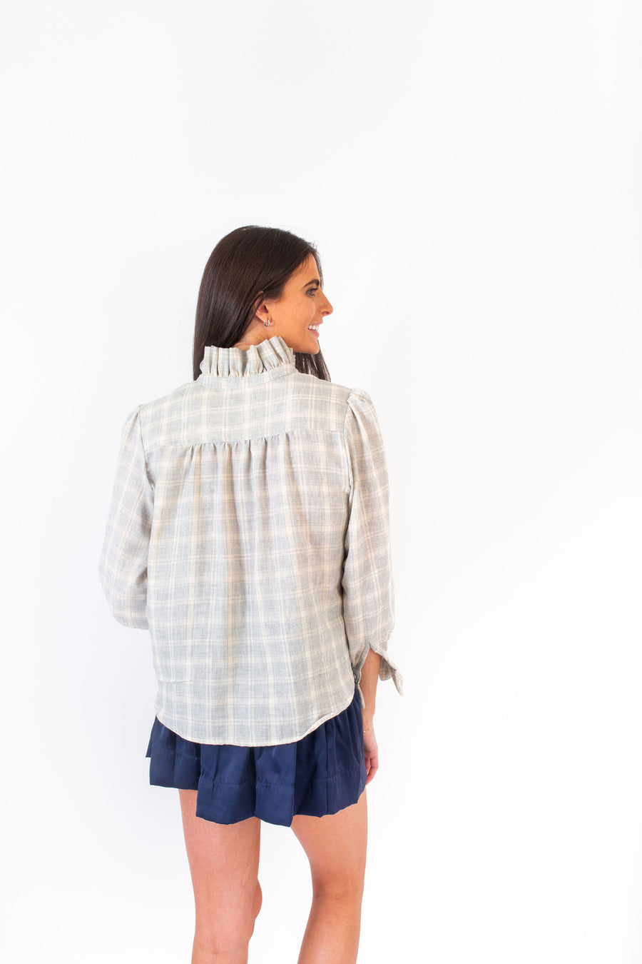PHOEBE TOP GREY PLAID *LIMITED*EDITION*