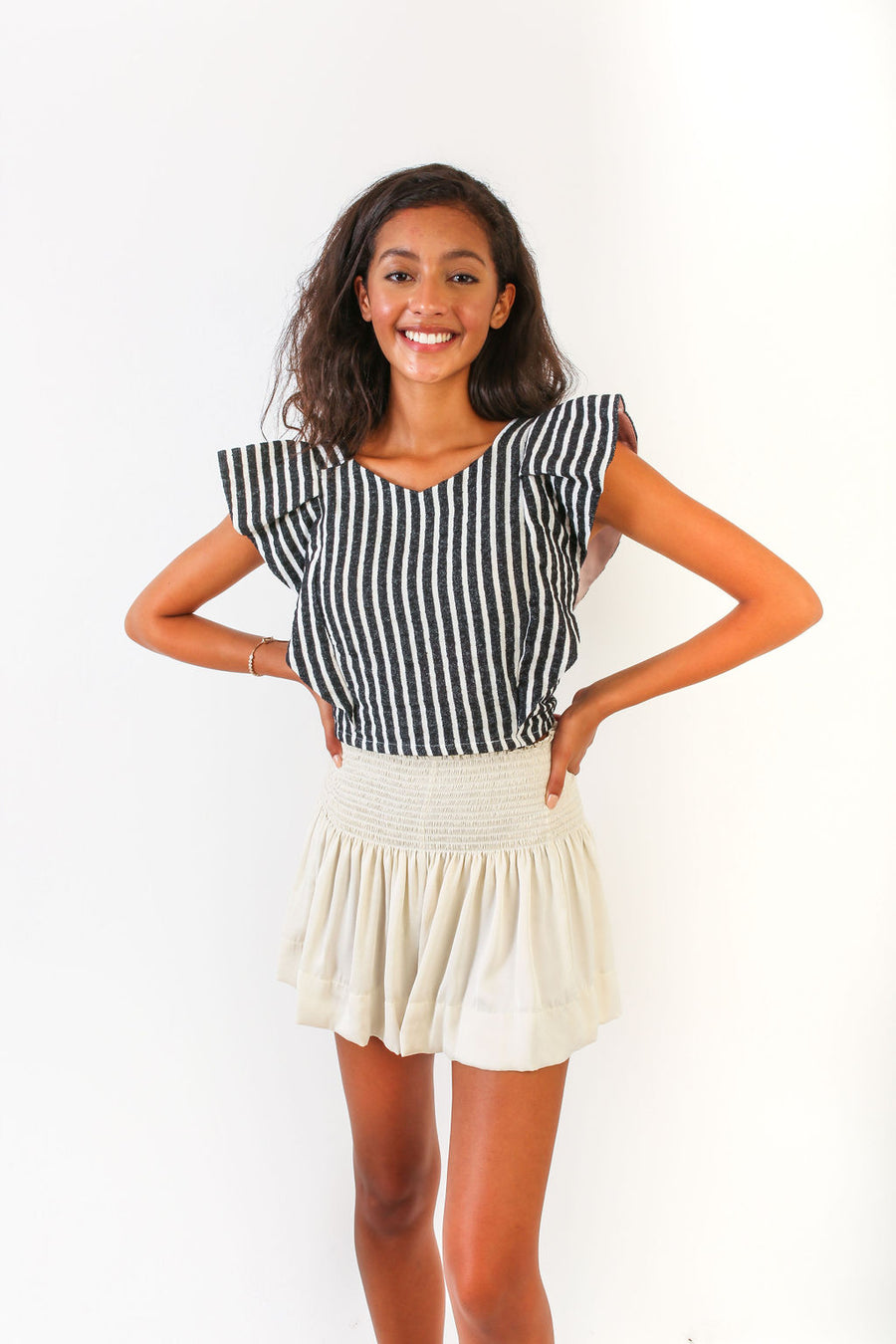 CECILIA TOP FRENCH STRIPE *LIMITED*EDITION*