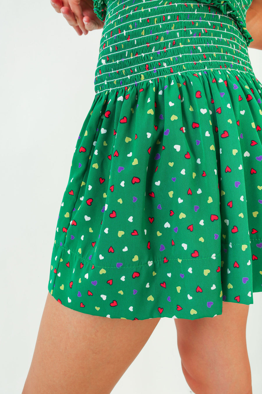 ERICA SKIRT GREEN HEARTS *LIMITED*EDITION*