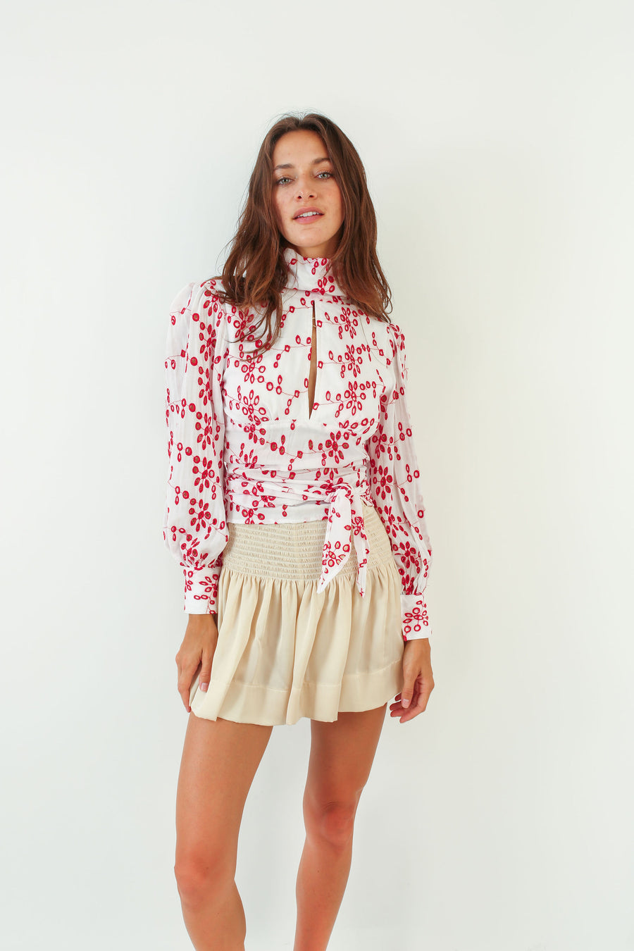 SASHI TOP RED EYELET *LIMITED*EDITION*
