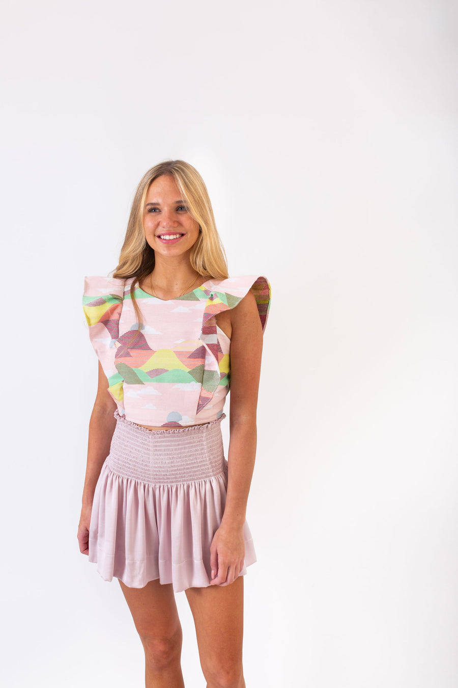 ERICA SKIRT COTTON CANDY POLYSATIN