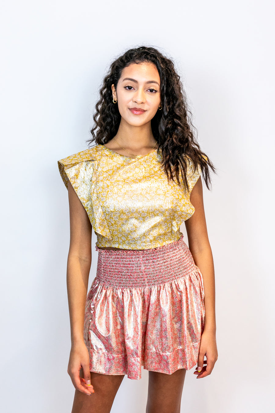 ERICA SKIRT PINK METALLIC *LIMITED*EDITION*