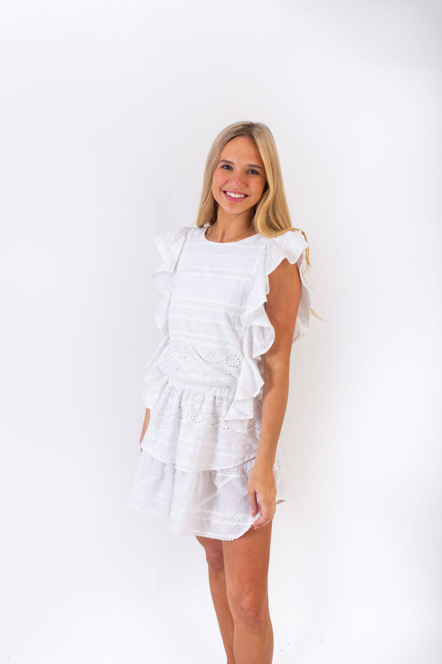 MADISON DRESS WHITE PICNIC