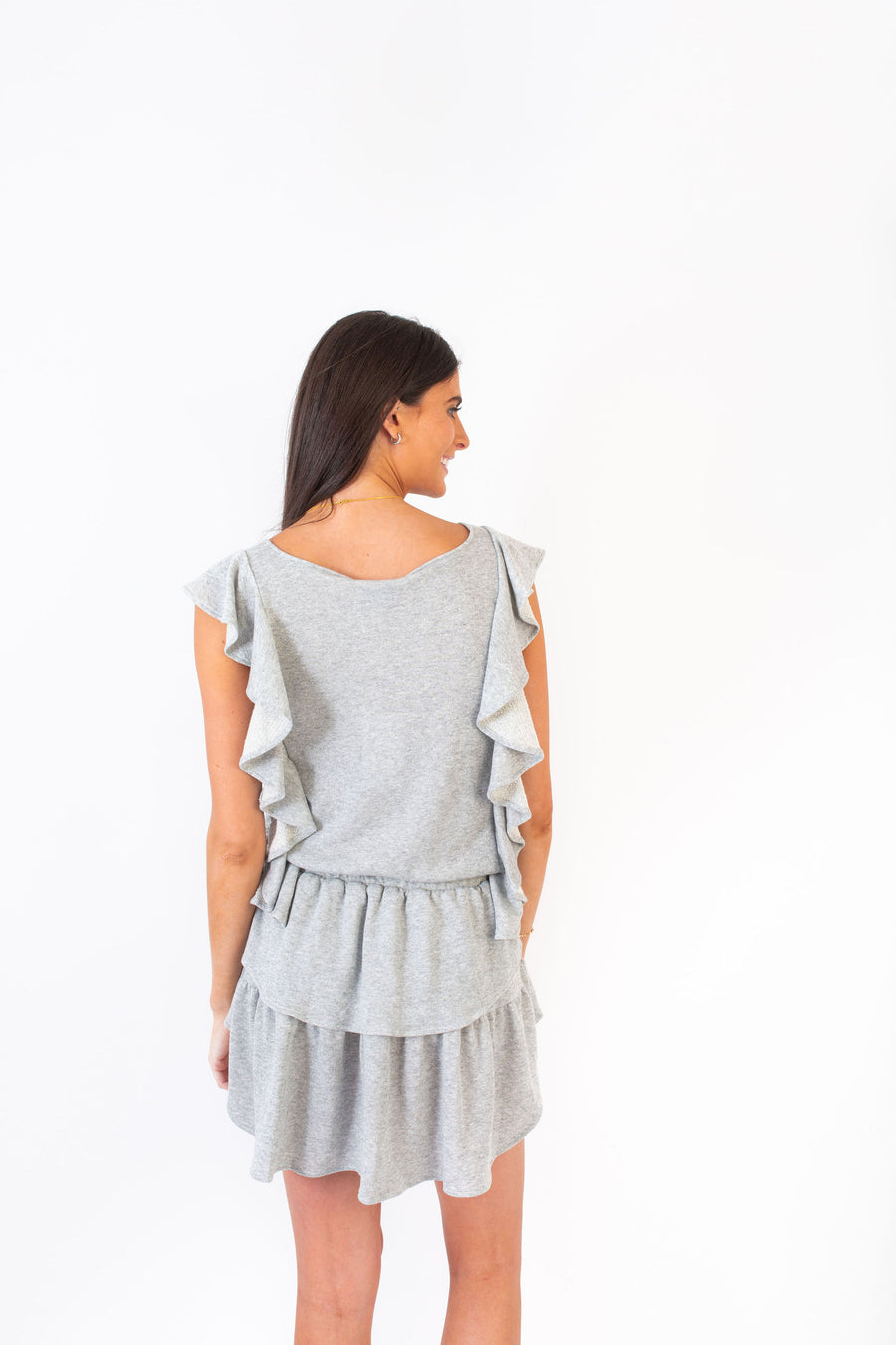 MADISON DRESS SHIMMER GREY KNIT *LIMITED*EDITION*
