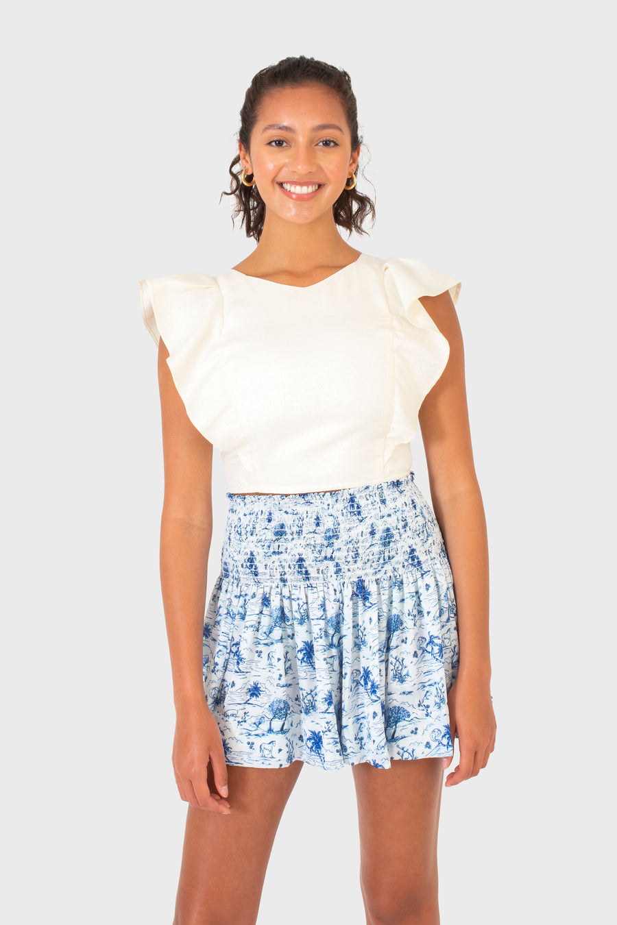 ERICA SKIRT ROYAL TOILE