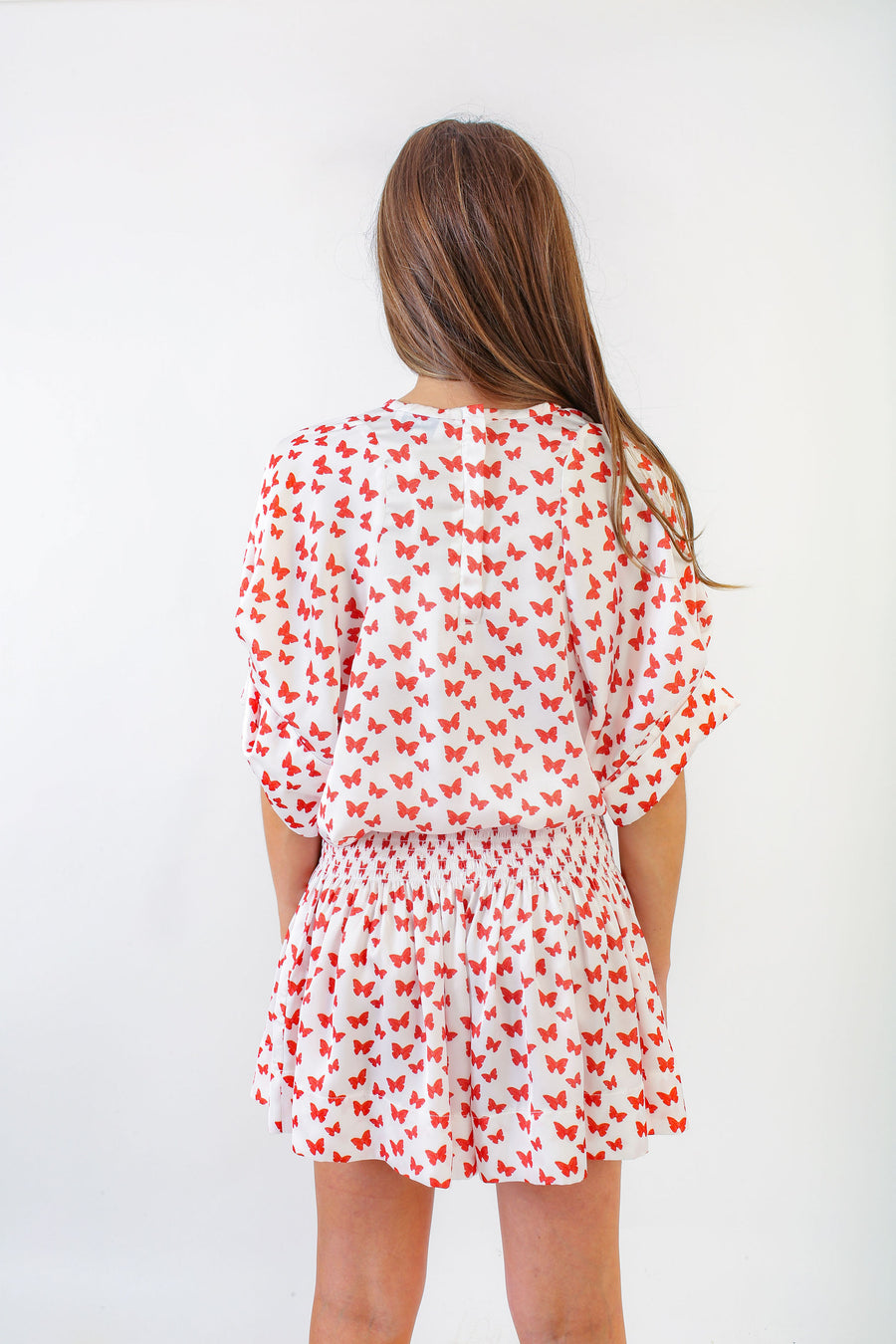 ERICA SKIRT RED BUTTERFLY PRINT *LIMITED*EDITION*