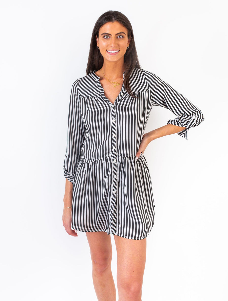 JOLIE DRESS BLACK AND WHITE STRIPE *LIMITED*EDITION*