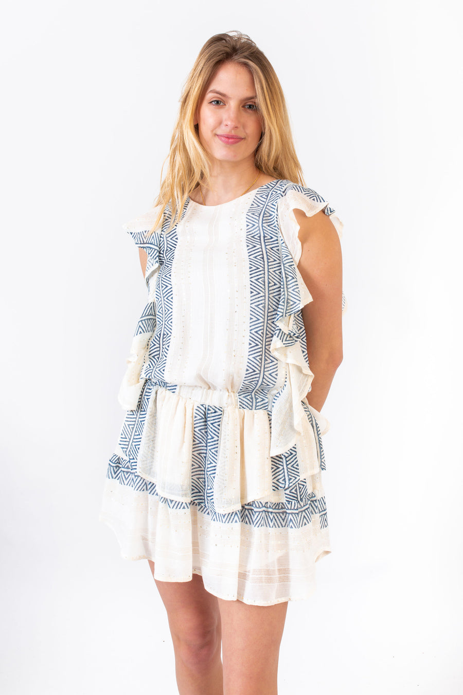 MADISON DRESS BLUE ISLAND SHIMMER *LIMITED*EDITION*