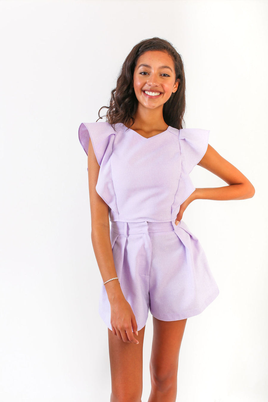 NIKKI SHORTS PURPLE LINEN *LIMITED*EDITION*