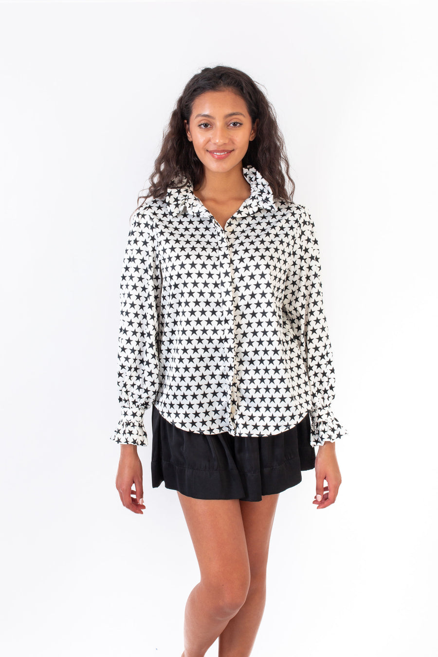 PHOEBE TOP BLACK AND WHITE STARS *LIMITED*EDITION*