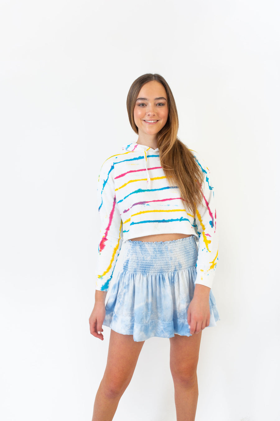 OLIVIA CROPPED HOODIE STRIPED DYE *LIMITED*EDITION*