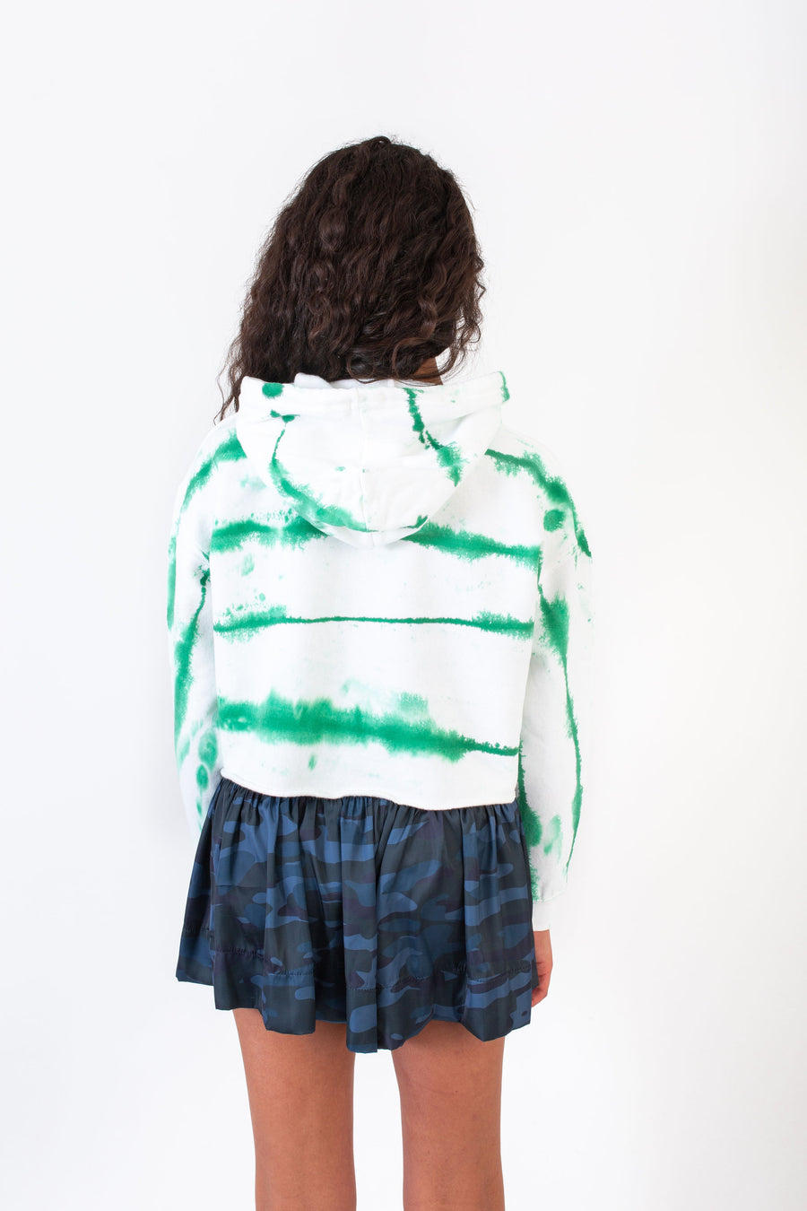 WILLA HOODIE GREEN TIE DYE *LIMITED*EDITION*