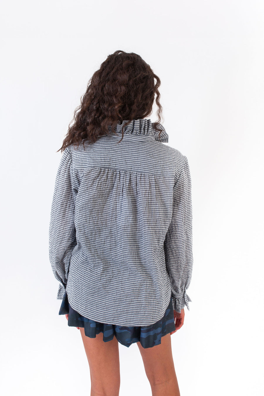 PHOEBE TOP NAVY CHECK *LIMITED*EDITION*