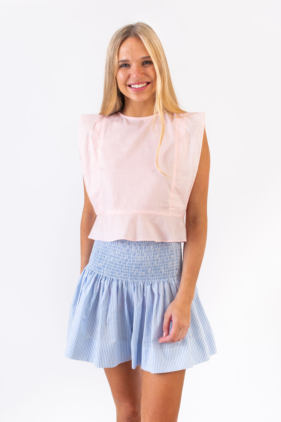WREN TOP PETAL PINK STRIPE
