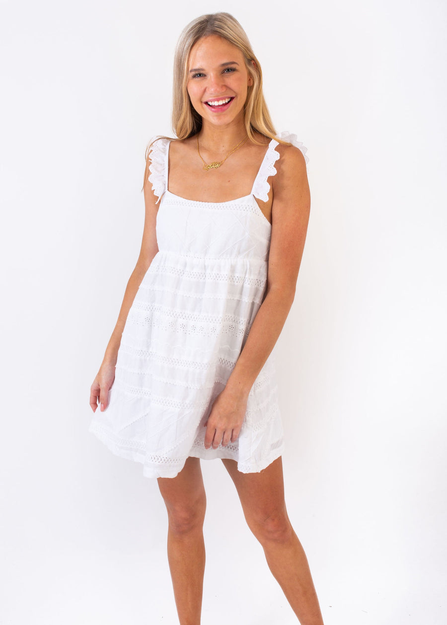 ALEXIS DRESS WHITE PICNIC