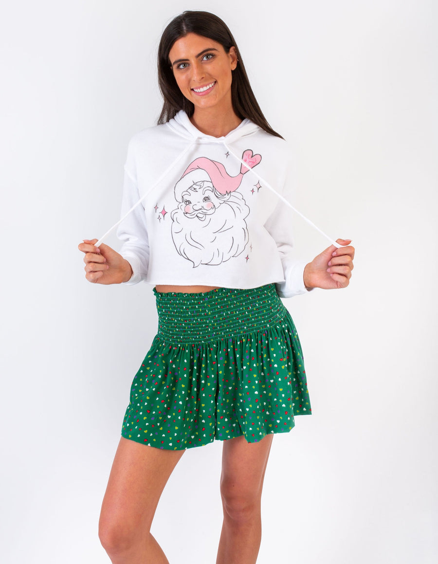 MUCH LOVE KOCH CROPPED SANTA HOODIE *LIMITED*EDITION*