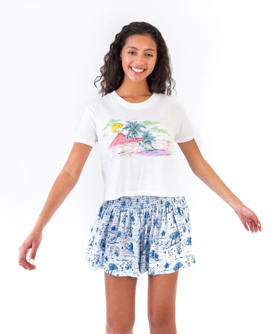 DANNIE CROPPED T-SHIRT BEACH SCENE *LIMITED*EDITION*