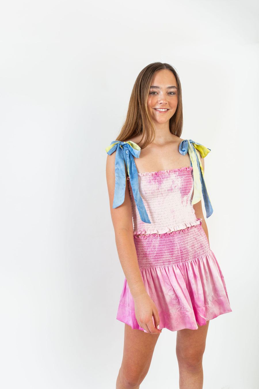 CECE TOP PINK TIE DYE POLYSATIN *LIMITED*EDITION*