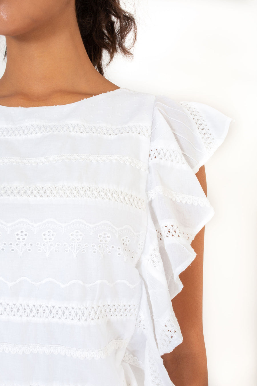 CARA TOP WHITE PICNIC *LIMITED*EDITION*