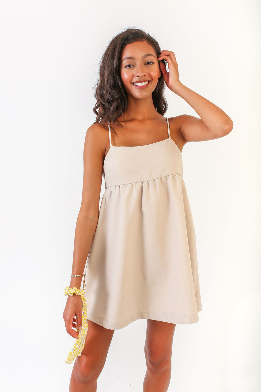 ALEXIS DRESS IVORY LINEN *LIMITED*EDITION*