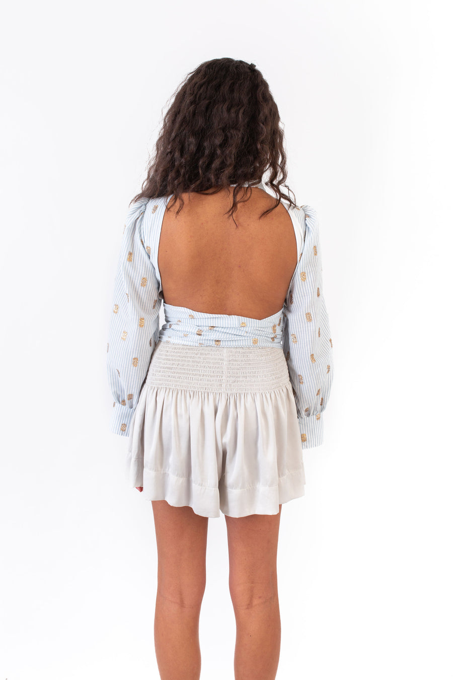 SASHI TOP BLUE AND WHITE STRIPE *LIMITED*EDITION*