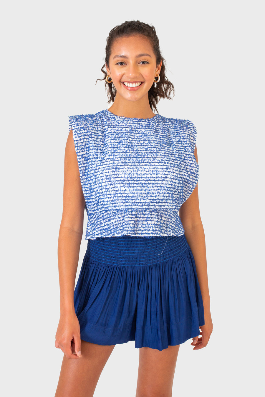 WREN TOP BLUE FRINGE *LIMITED*EDITION*
