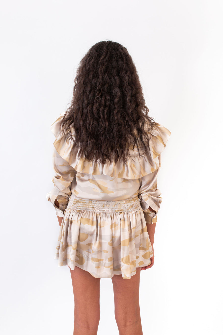 ERICA SKIRT KHAKI CAMO PRINT *LIMITED*EDITION*