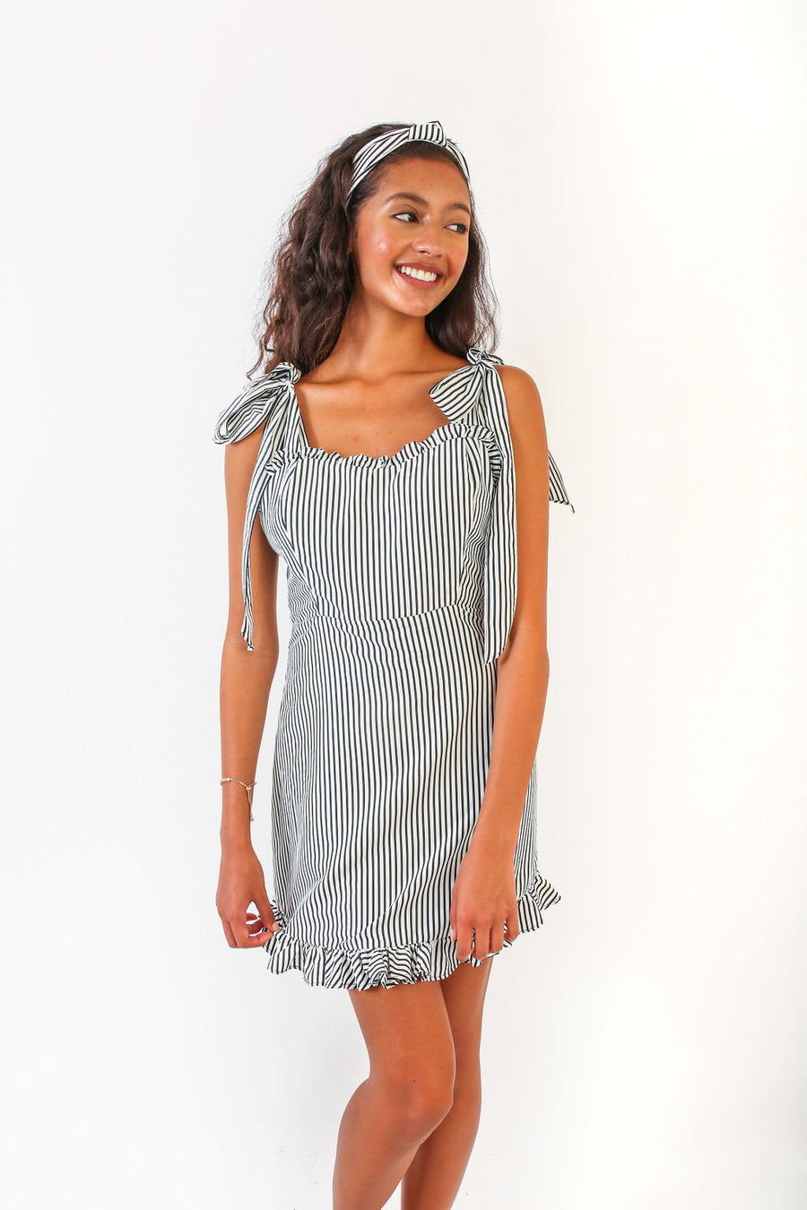 JESSE DRESS BLACK STRIPE *LIMITED*EDITION*