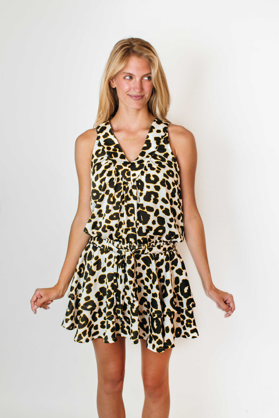 HALEY DRESS IVORY LEOPARD *LIMITED*EDITION*