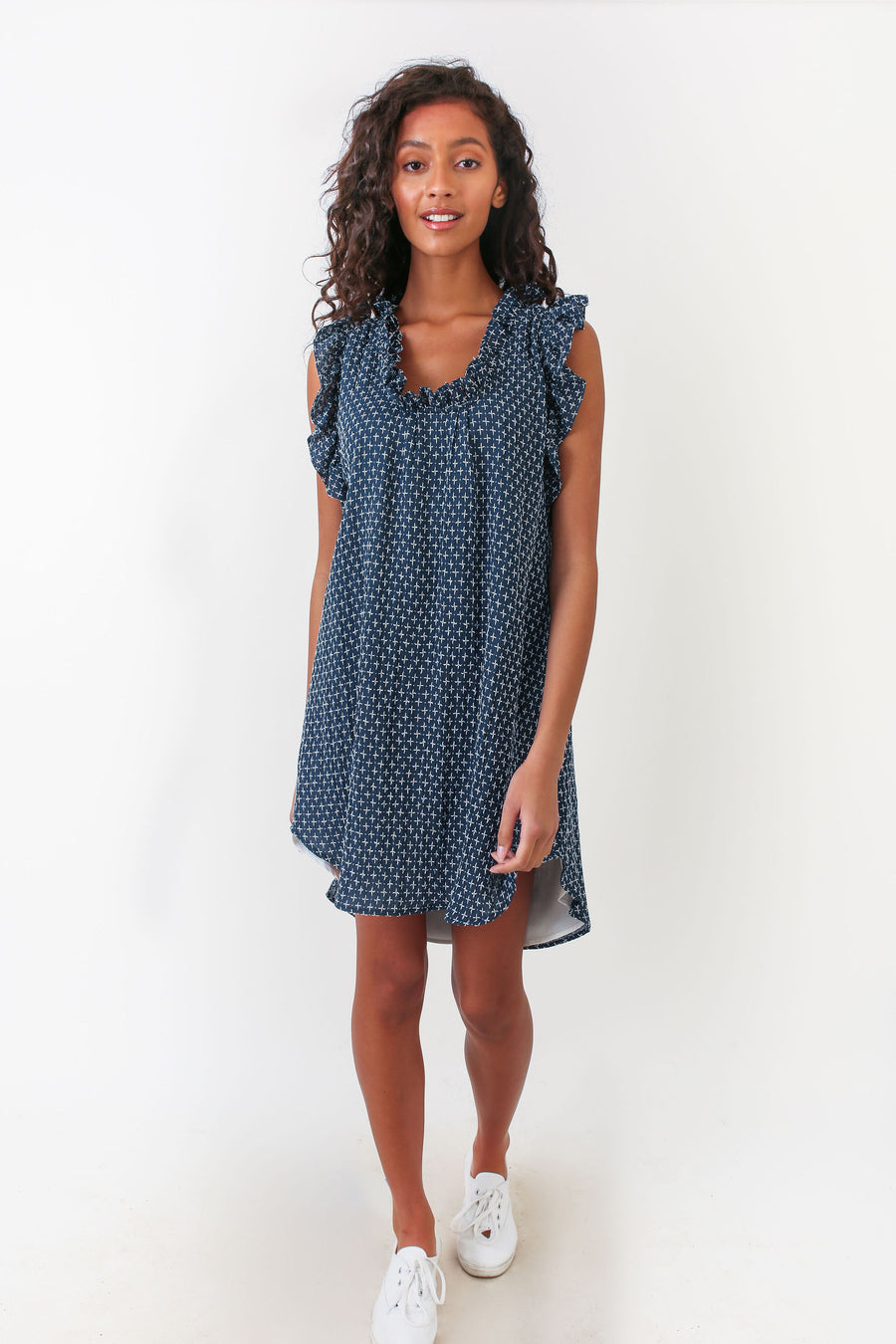 EMMA DRESS NAVY STITCH *LIMITED*EDITION*