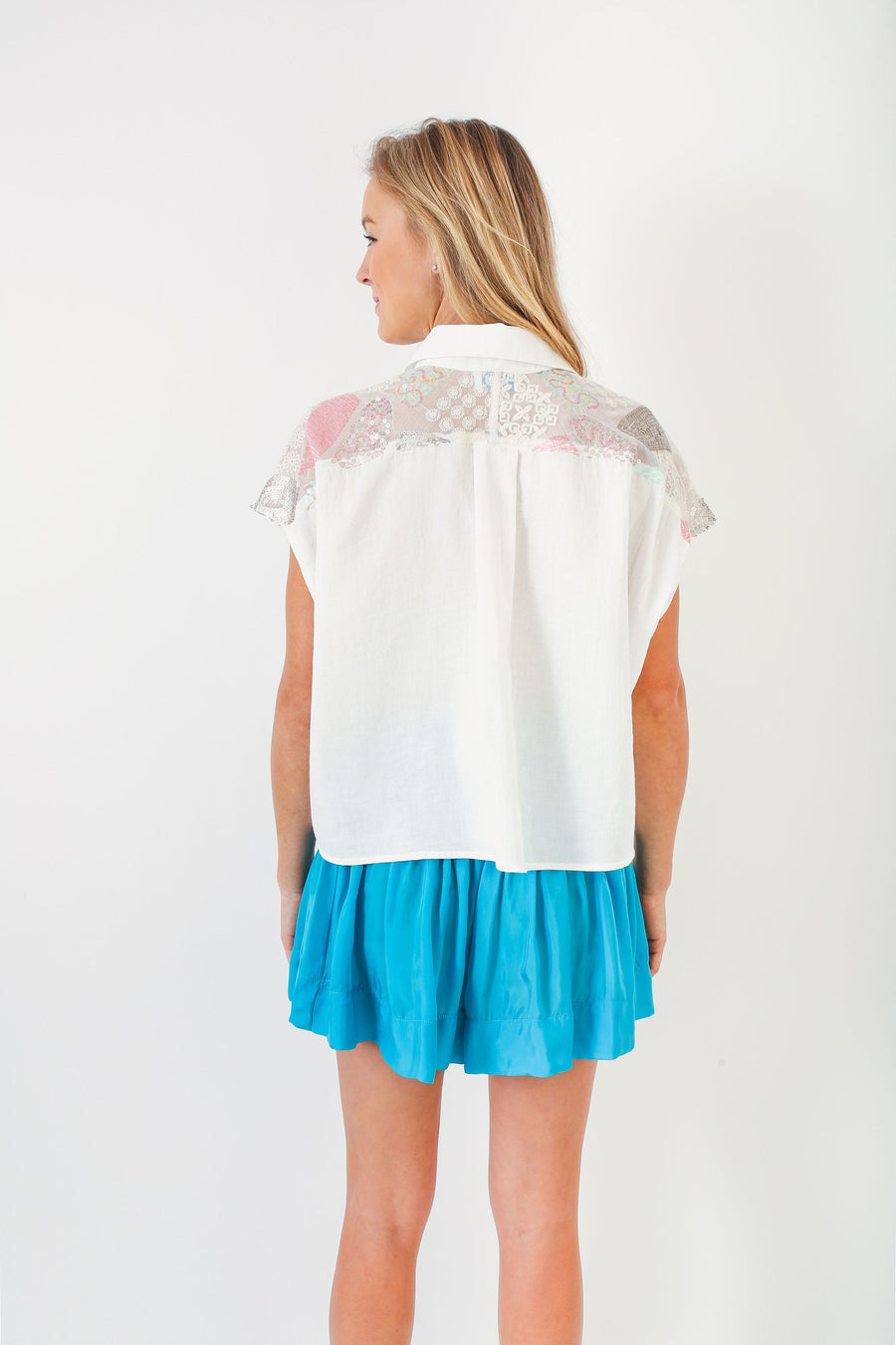 SPENCER TOP WHITE COTTON