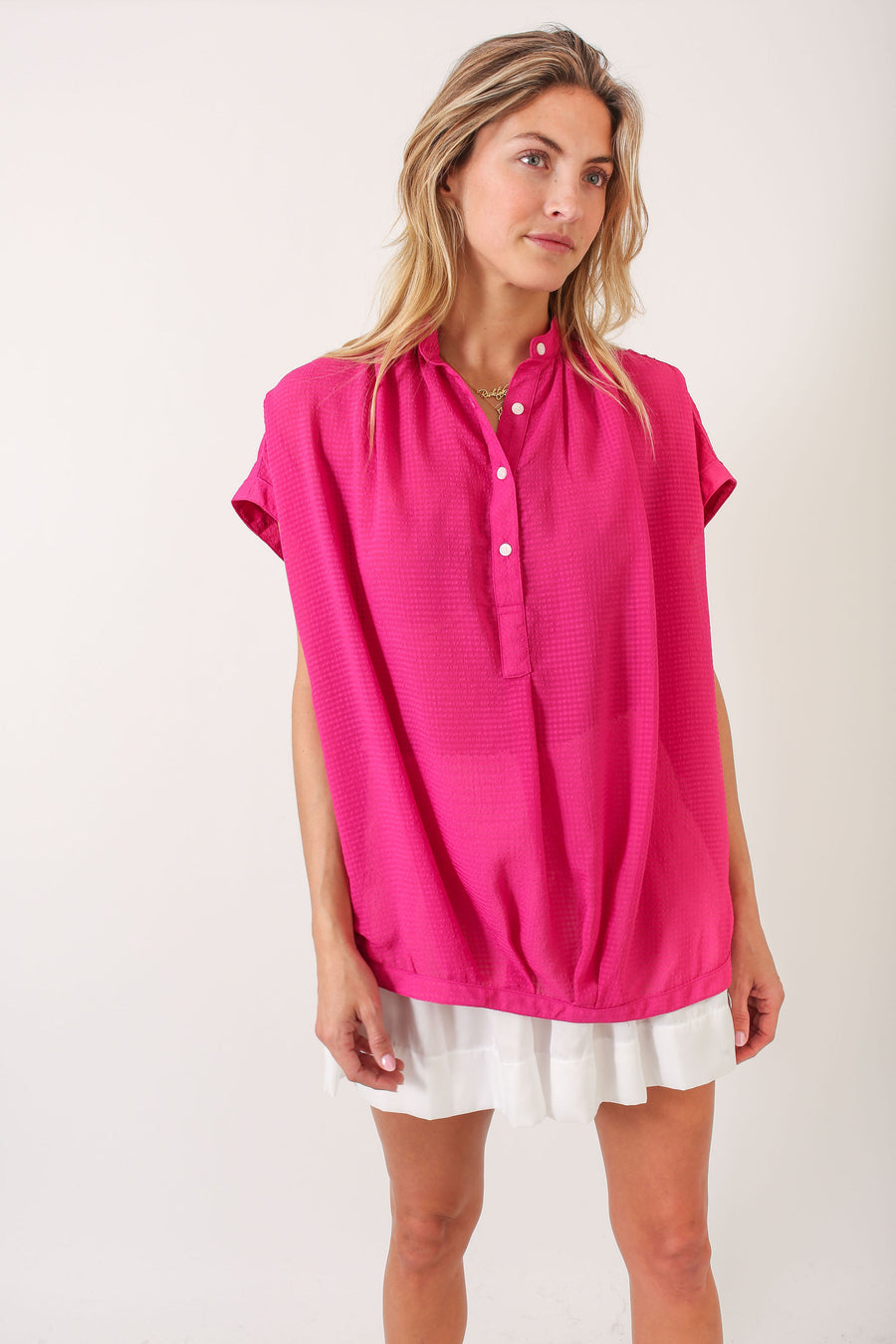 FERN TOP PINK CHIFFON  *LIMITED*EDITION*
