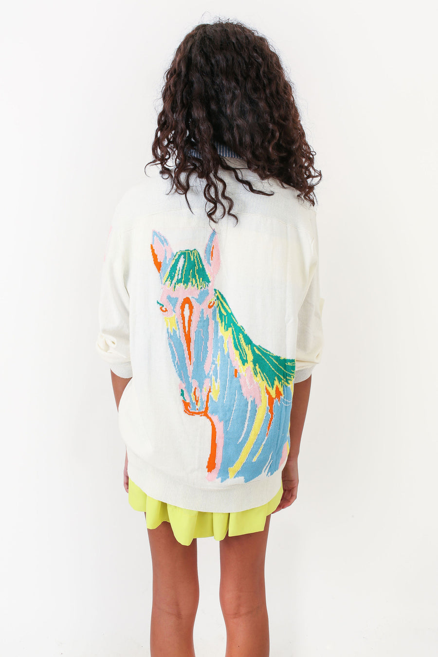 LONGFELLOW SWEATER WHITE HORSE