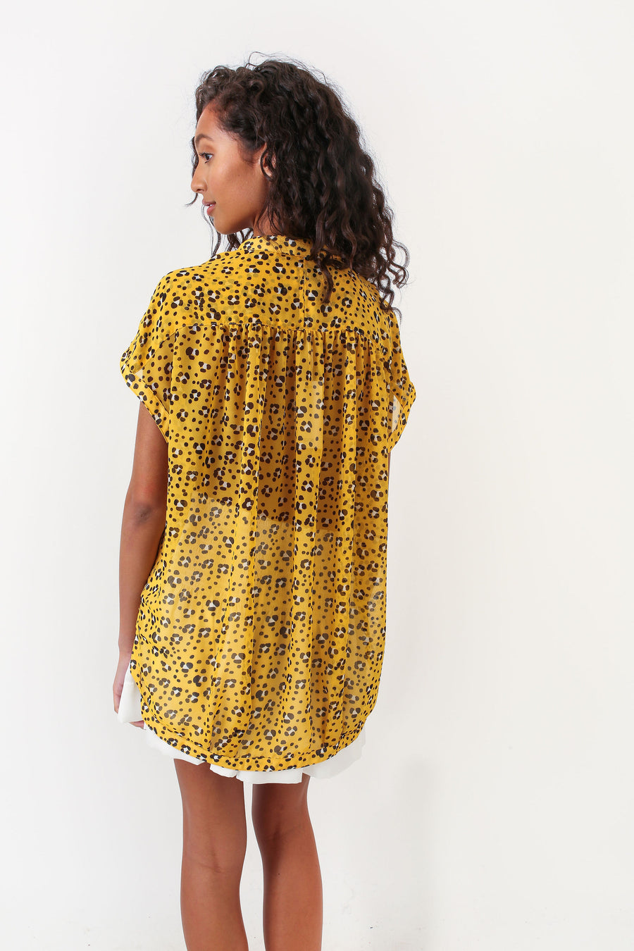 FERN TOP SUNFLOWER LEOPARD  *LIMITED*EDITION*