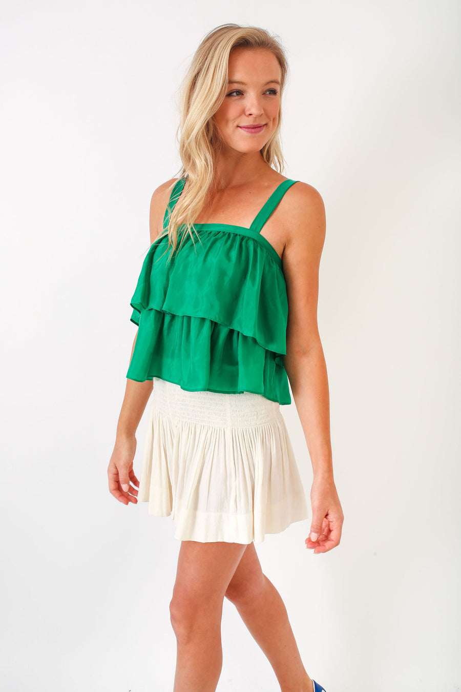 GOLDIE TOP SUMMER GREEN