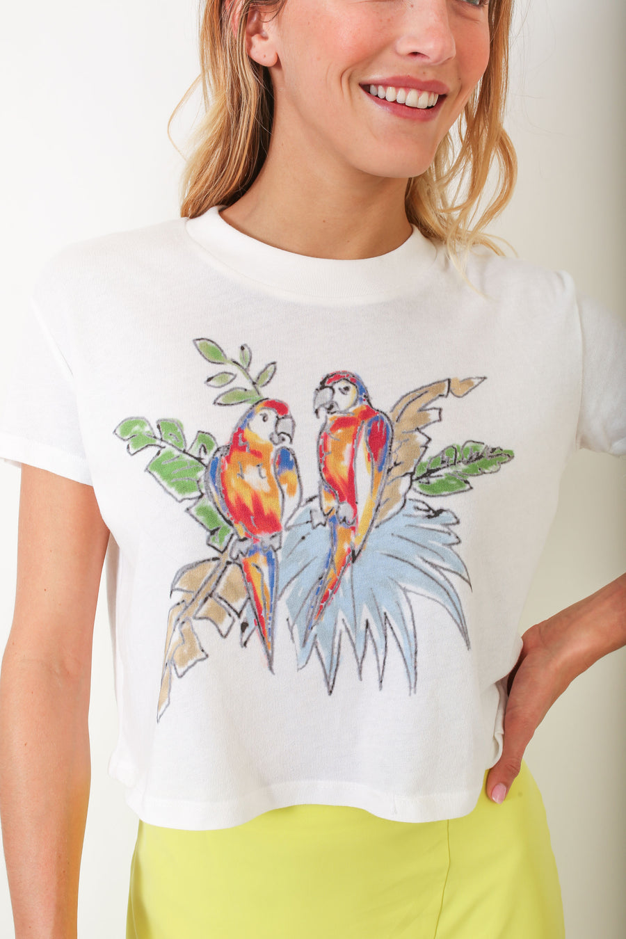 CROP TEE PARROT *LIMITED*EDITION*