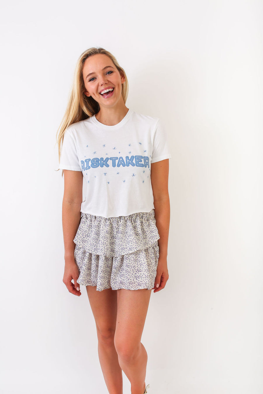 CROP TOP BLUE RISKTAKER