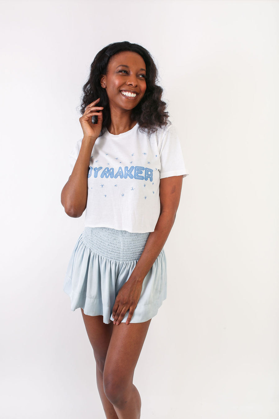 CROP TOP BLUE JOYMAKER