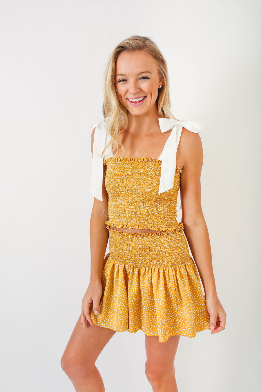 ERICA SKIRT YELLOW DALMATIAN