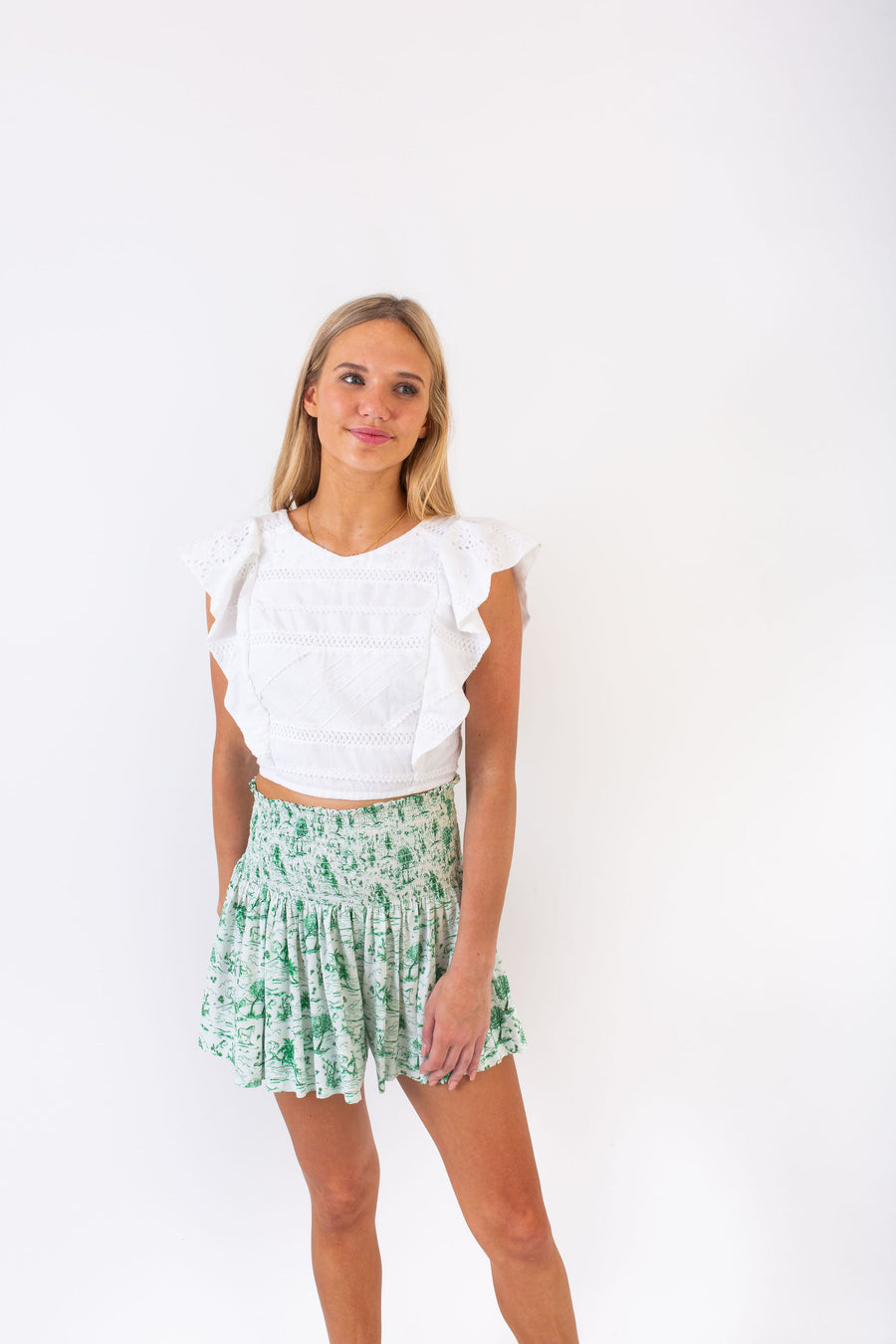 CECILIA TOP WHITE PICNIC