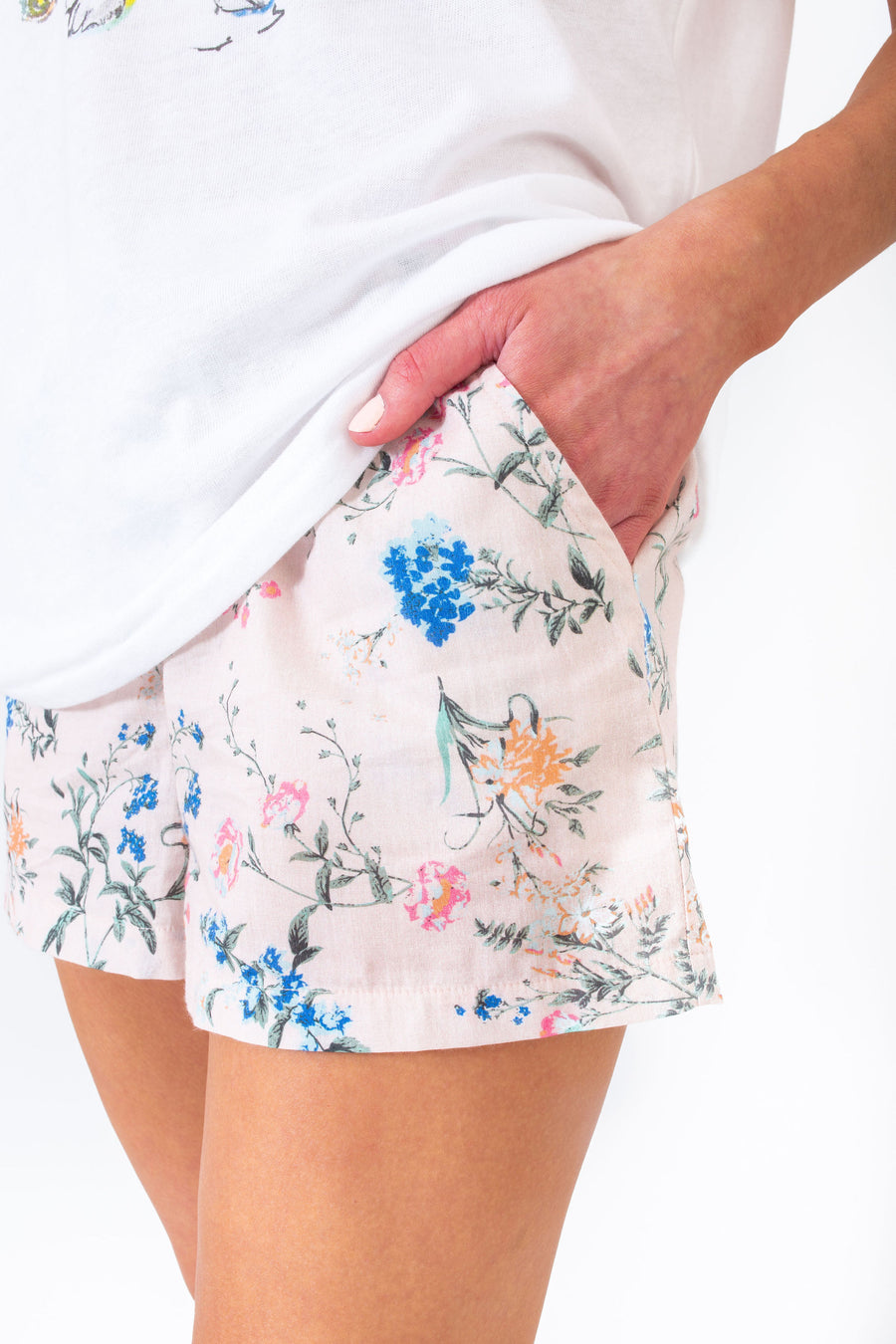 BONDI LOUNGE SHORTS BLUSH EYELET *LIMITED*EDITION*