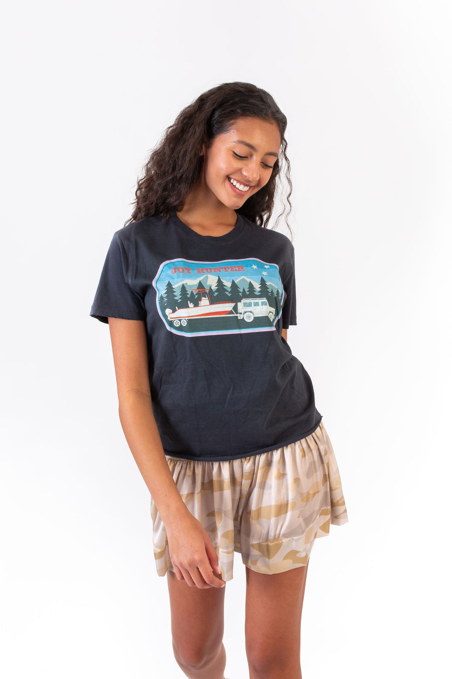 DREW T-SHIRT VINTAGE BLACK JOY HUNTER BOAT *LIMITED*EDITION*