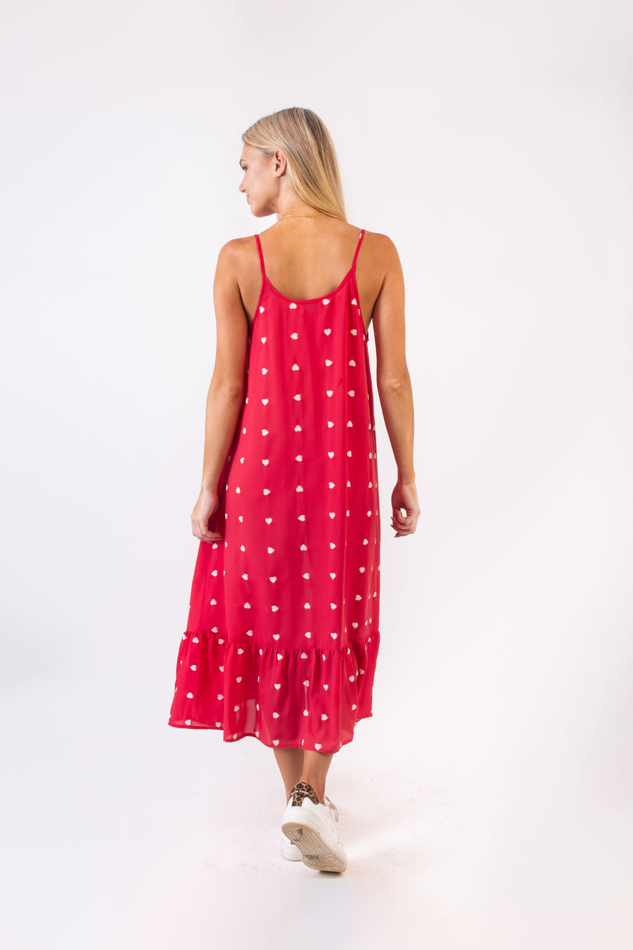 DRAKE DRESS RED HEARTS