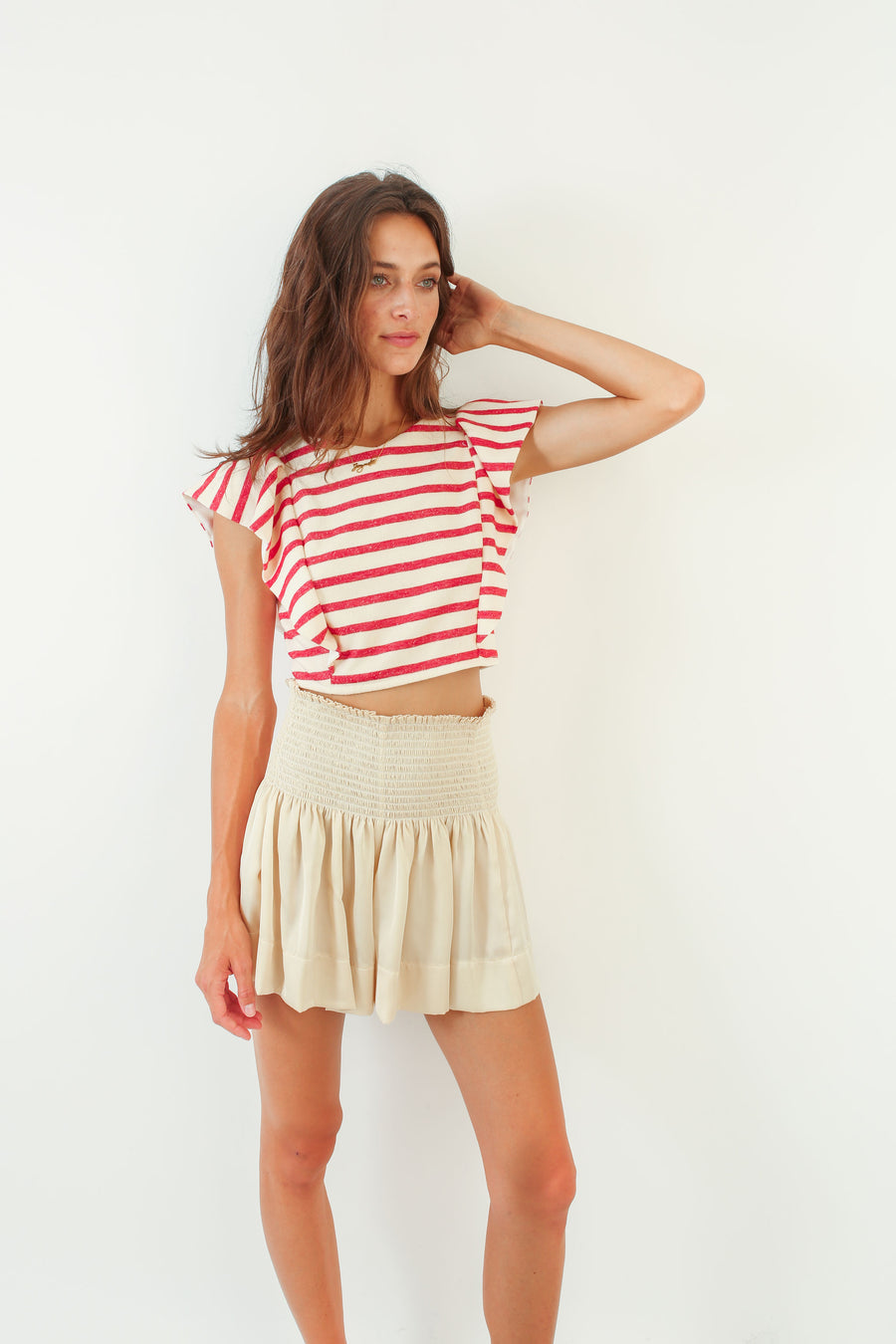 CECILIA TOP RED STRIPE *LIMITED*EDITION*