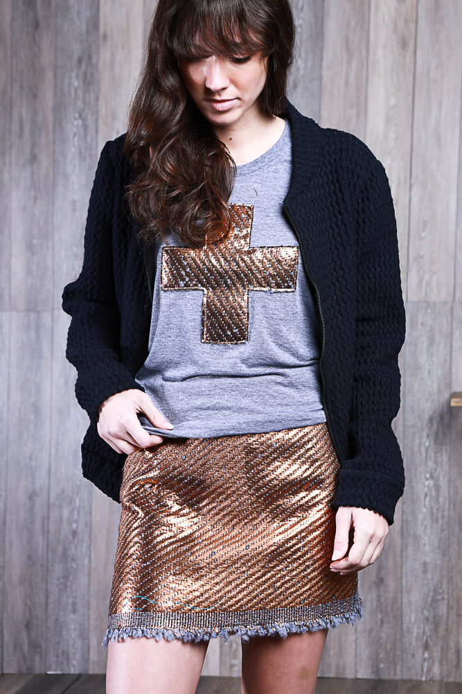 SUNNIE SKIRT COPPER QUILTING