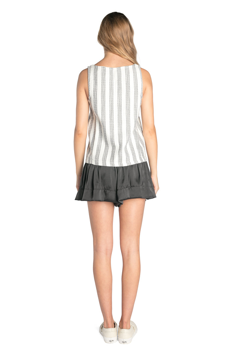 JOSEF TOP BLACK AND WHITE STRIPE