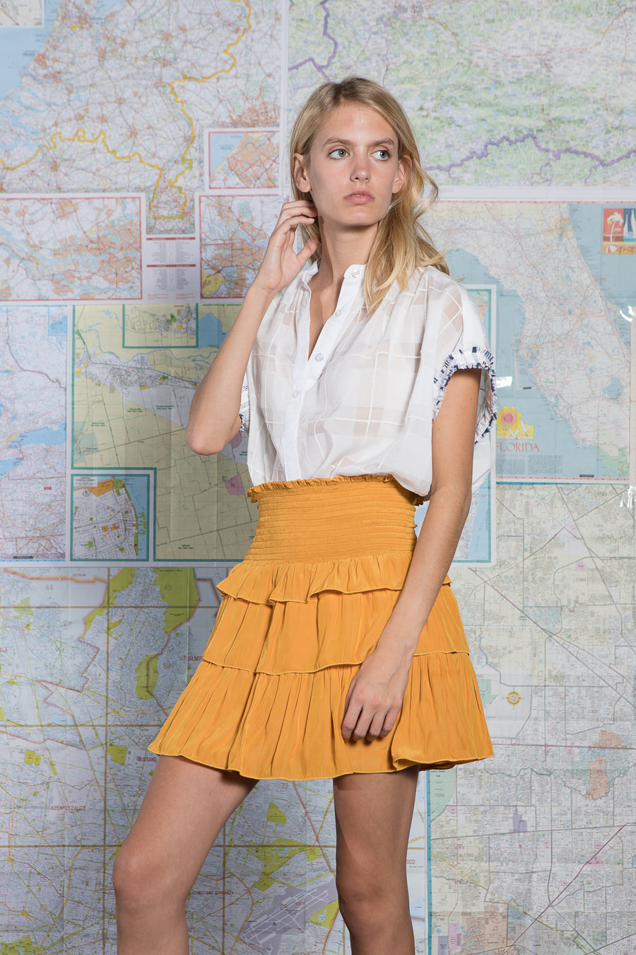 LIZZIE SKIRT ORANGE