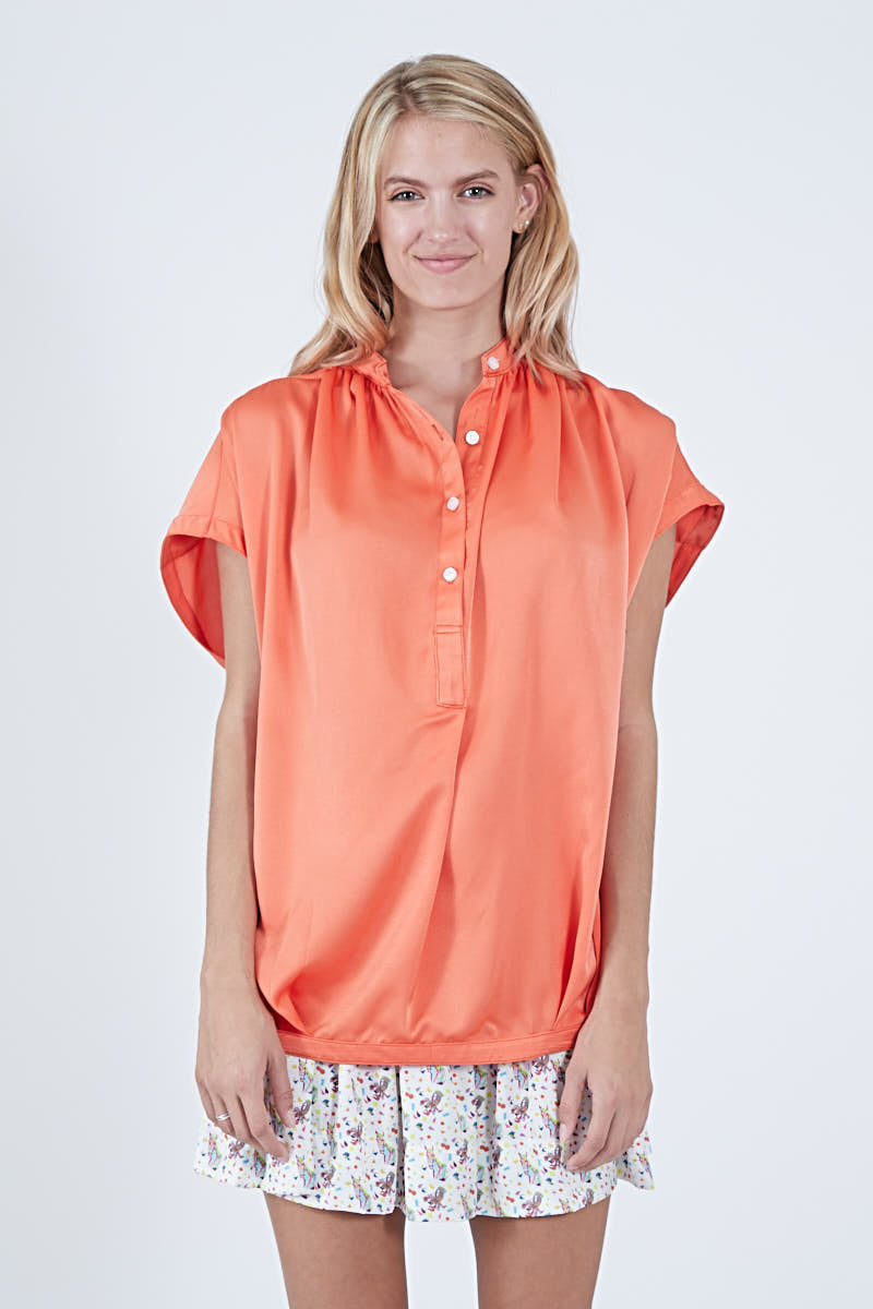 FERN TOP ORANGE POLYSATIN
