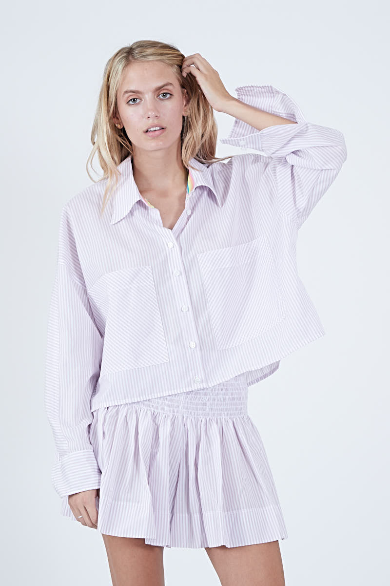 LYLE TOP LAVENDER STRIPE