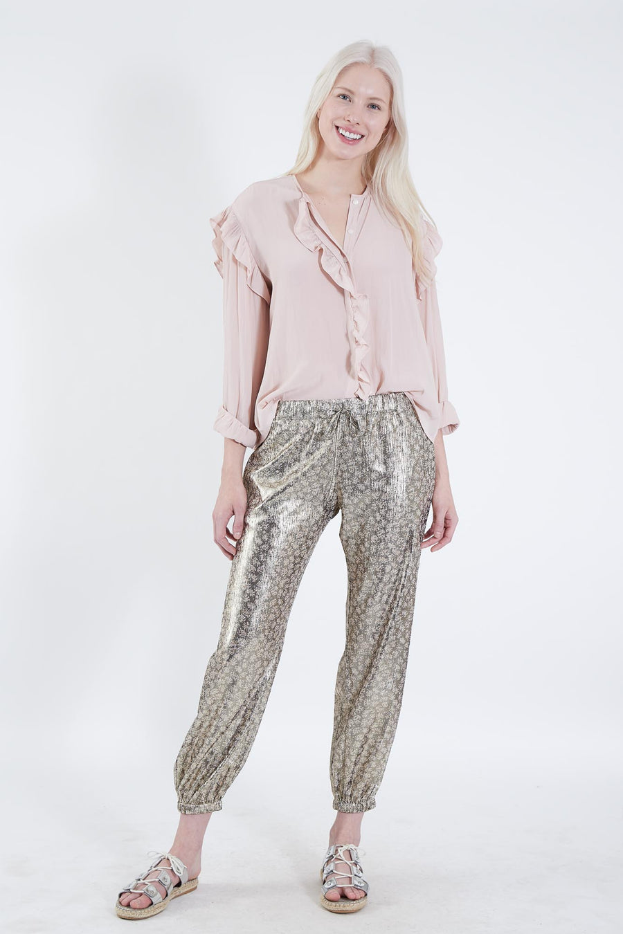 HUNTER PANTS CHARCOAL METALLIC